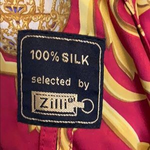 Zilli raincoat silk lining one of a kind .